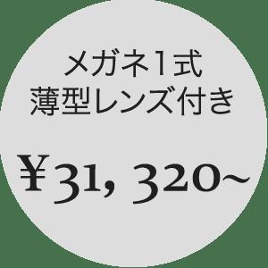1式 ¥31,320〜
